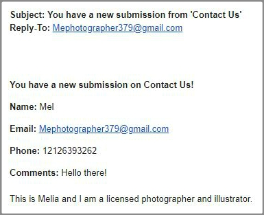 Example Email From Mel